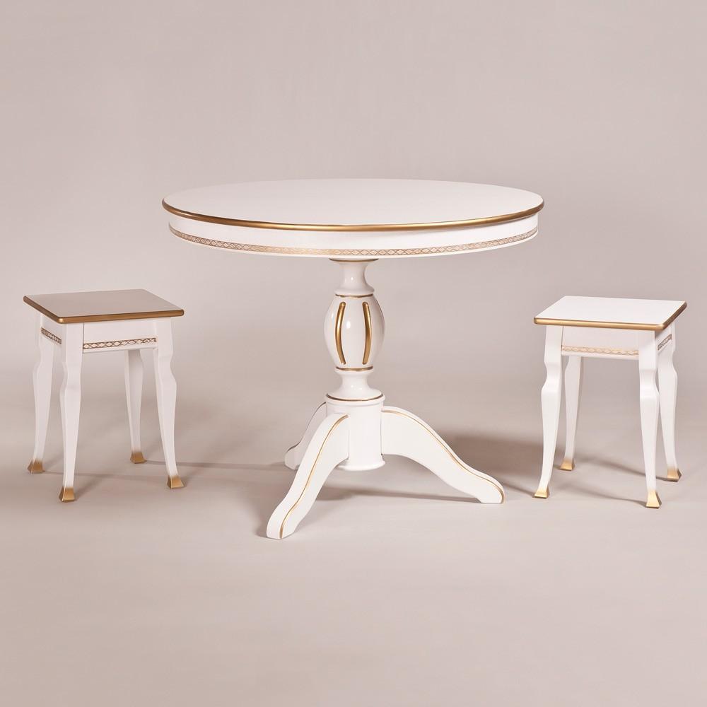 Обеденный стол «Меридиан» для кухни из массива дерева. Классика №5