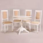 Обеденный стол «Меридиан» для кухни из массива дерева. Классика №4