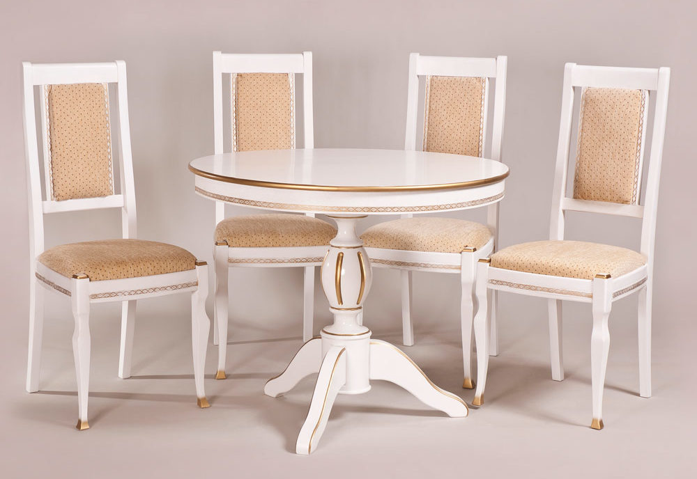 Обеденный стол «Меридиан-2» для кухни из массива дерева. Классика №7