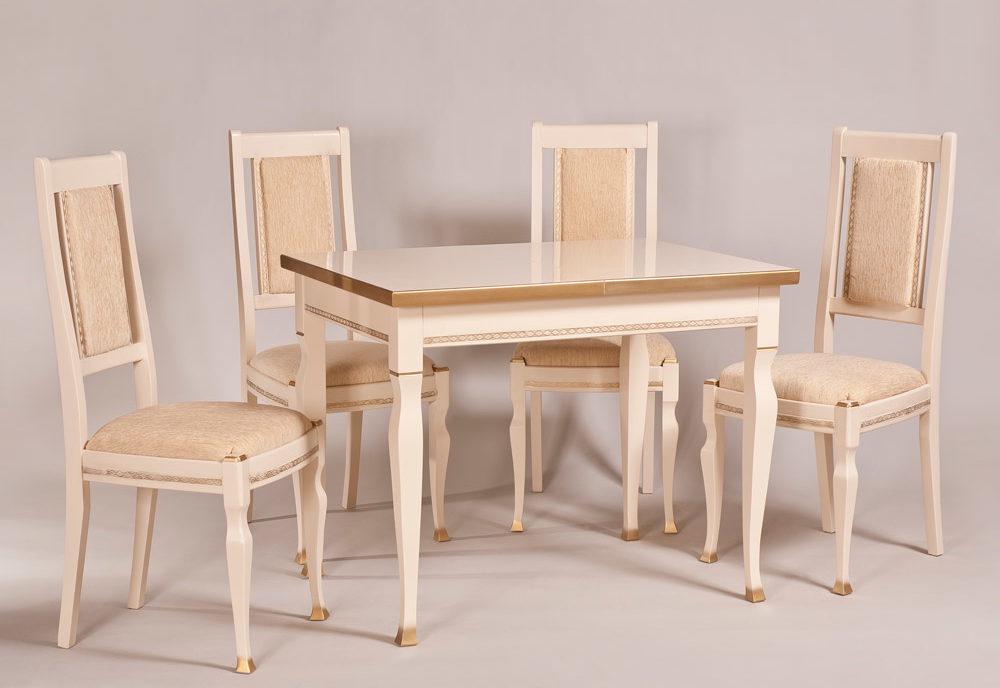 Обеденный стол «Акцент» для кухни из массива дерева. Классика. Мебельная фабрика «LIERRO» №22
