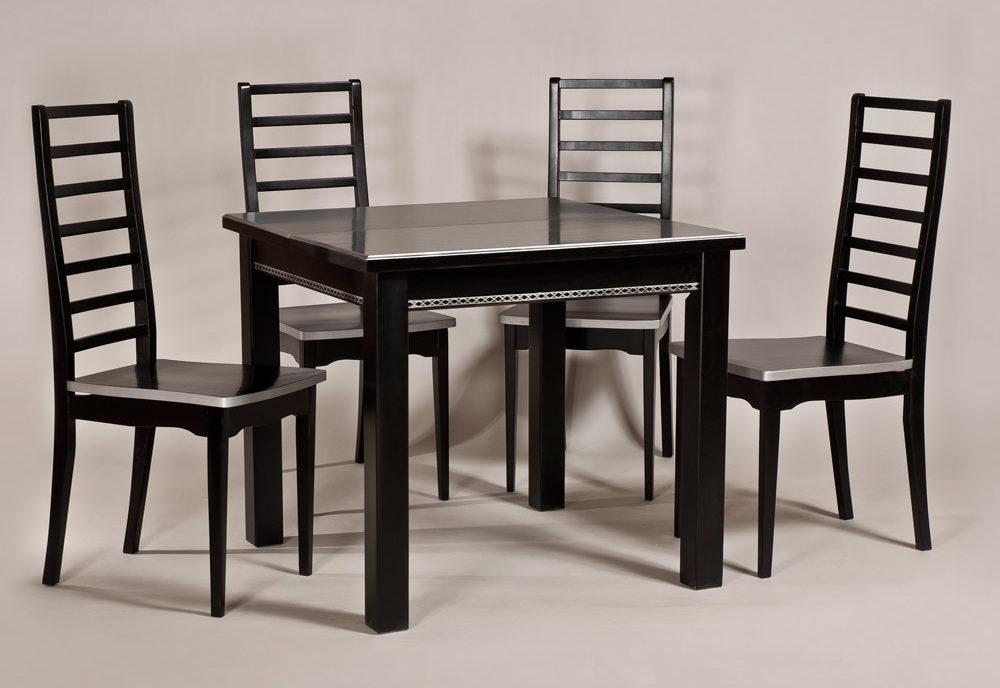 Обеденный стол «Кватро-2» для кухни из массива дерева. Классика №6