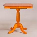 Классический обеденный стол трансформер «Центр» для кухни из массива дерева №12