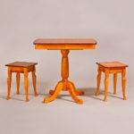 Классический обеденный стол трансформер «Центр» для кухни из массива дерева №8
