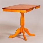 Классический обеденный стол трансформер «Центр» для кухни из массива дерева №2