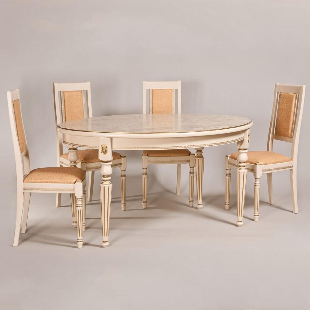 Обеденный стол «Арес» для кухни из массива дерева. Классика №2