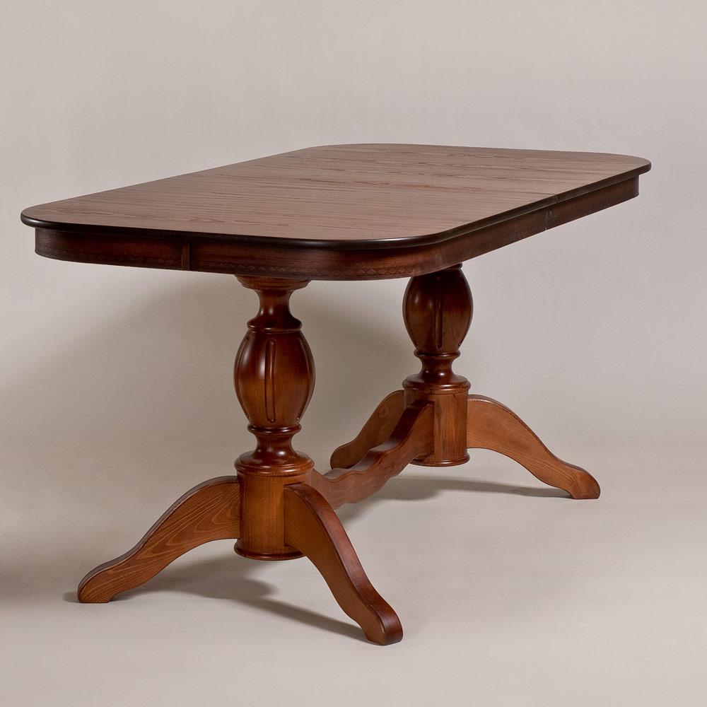 Обеденный стол для кухни в классическом стиле «Элегия-2» из массива дерева №12