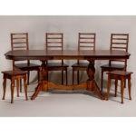 Обеденный стол для кухни в классическом стиле «Элегия-2» из массива дерева №9