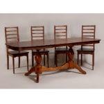 Обеденный стол для кухни в классическом стиле «Элегия-2» из массива дерева №8
