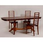 Обеденный стол для кухни в классическом стиле «Элегия-2» из массива дерева №7