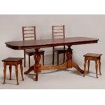 Обеденный стол для кухни в классическом стиле «Элегия-2» из массива дерева №6