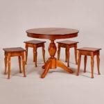 Обеденный стол «Меридиан-3» для кухни из массива дерева. Классика №15