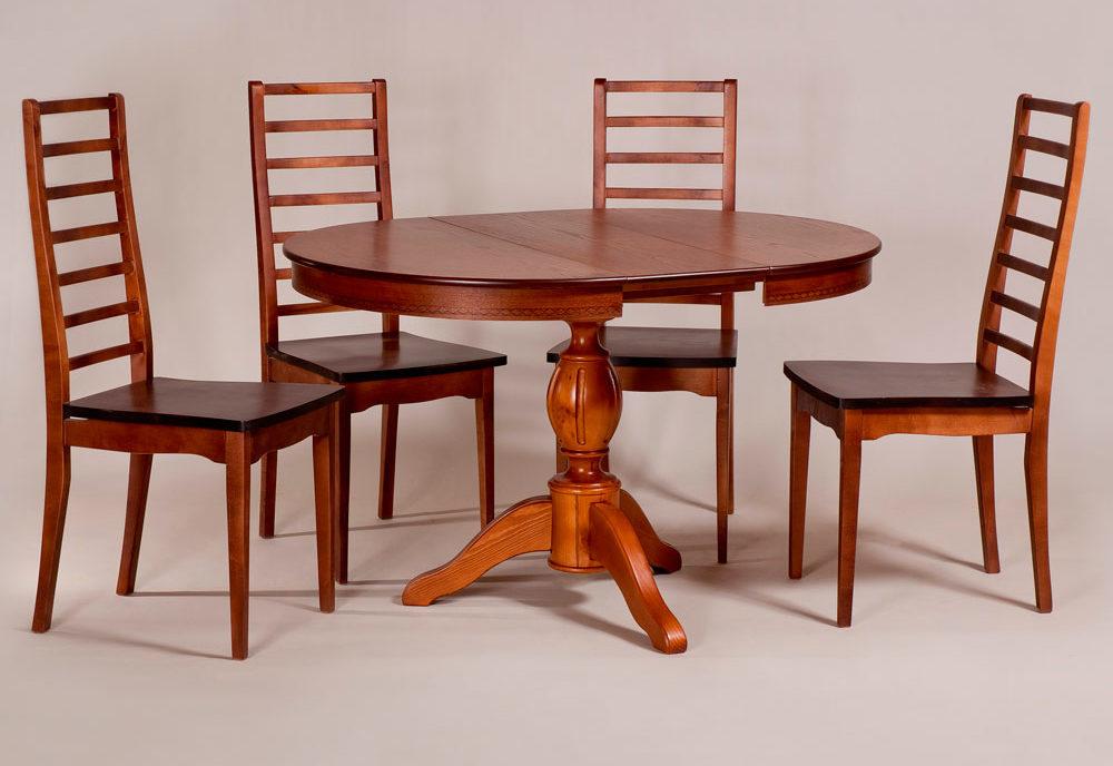 Обеденный стол «Меридиан-3» для кухни из массива дерева. Классика №13