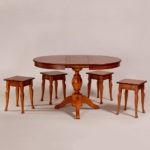 Обеденный стол «Меридиан-3» для кухни из массива дерева. Классика №12