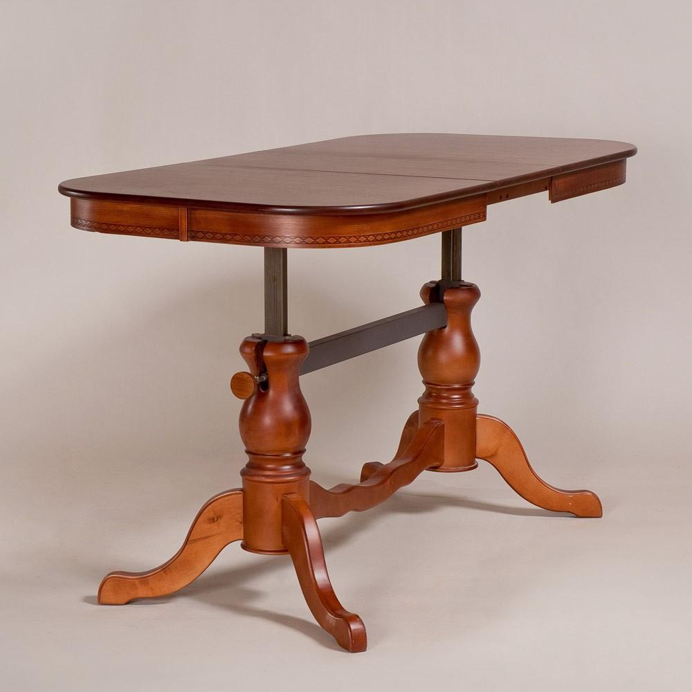 Журнально-обеденный стол трансформер «Элегия» из массива дерева №13